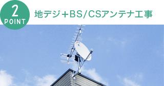 地上デジ+BS/CSアンテナ工事